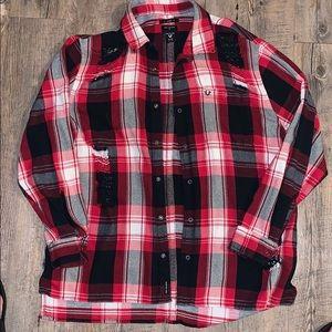 True religion flannel button up